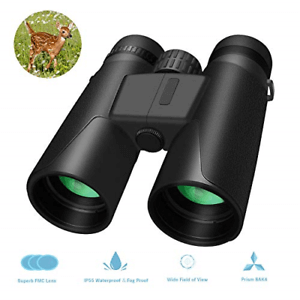 Whew 10x42 Roof Prism Binoculars for Adults