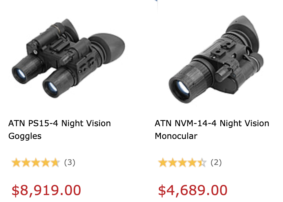Gen 4 night vision devices